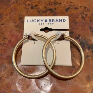 LAST ONE* NWT Lucky Brand Gold Hoops